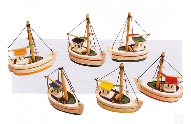 Miniboote 8 x 8 x 3,5 cm