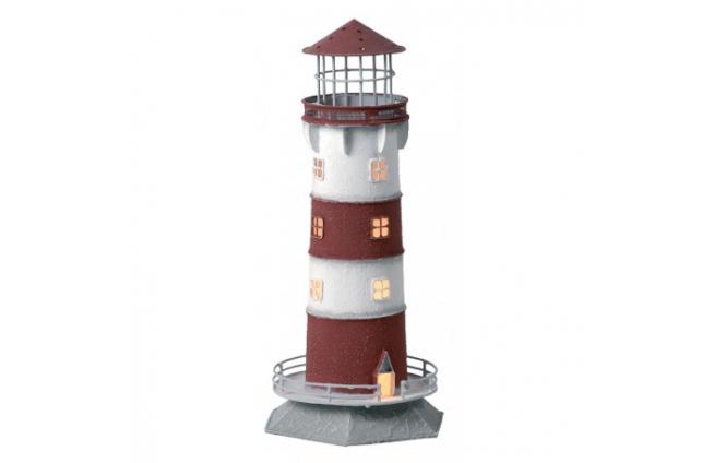Leuchtturm mit Glühbirne
