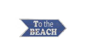 """Holzplatte """"zum Strand"""""""