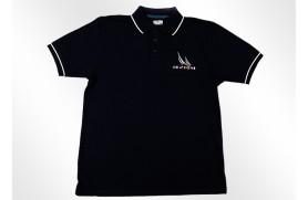 Klassischer Poloshirt blau
