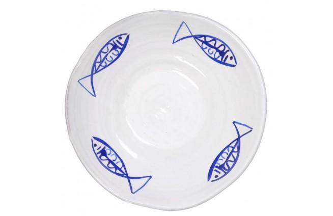 Platte mit Fischen