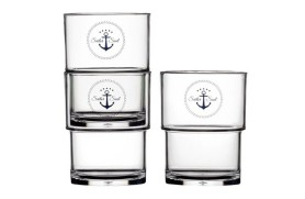 Set 12 Stapelbares Glas SAILOR
