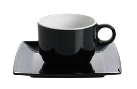 Set 2 Kaffeetassen Quadrato Black & White
