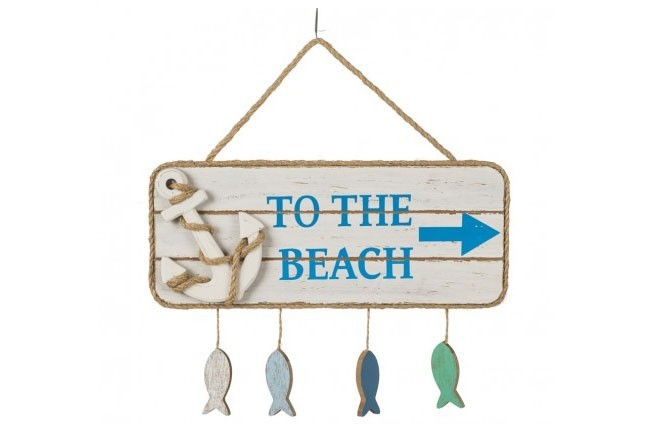 """""""To the Beach"""" Holzplatte"""
