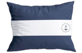 "2 Kissen ""Flags"" blauen"