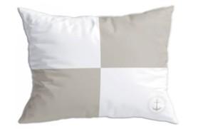 """2 Kissen """"Flags 2"""" beige"""