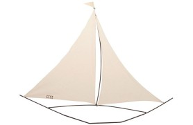 Wand-Segelboot