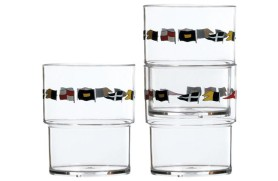 Set 12 Stapelbares Glas REGATA