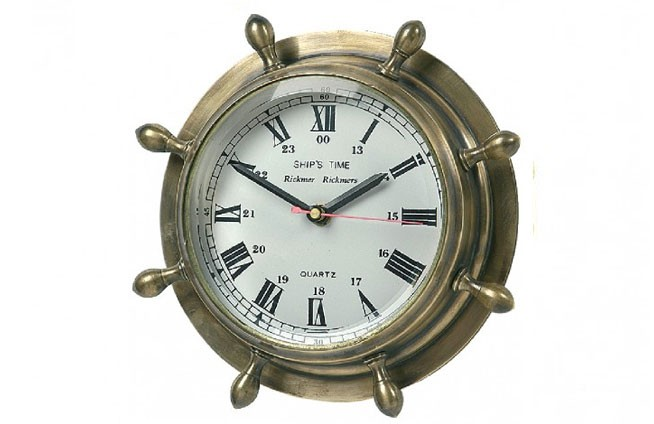 Steuerruder-Uhr Messing