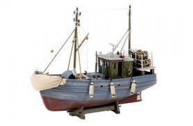 Graues Fischerboot