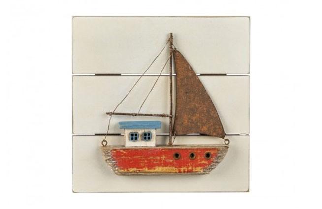 Seebild Segelboot rot
