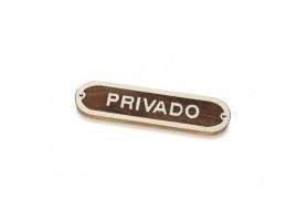 """Plakette """"Privado"""""""