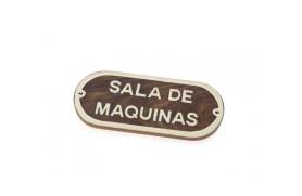 "Plakette ""SALA DE MAQUINAS"""