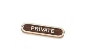 """Plakette """"PRIVATE"""""""