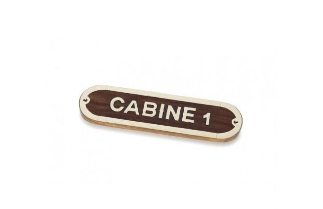 """Plakette """"CABINE 1"""""""