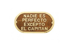 """Plakette """"NADIE ES PERFECTO..."""""""